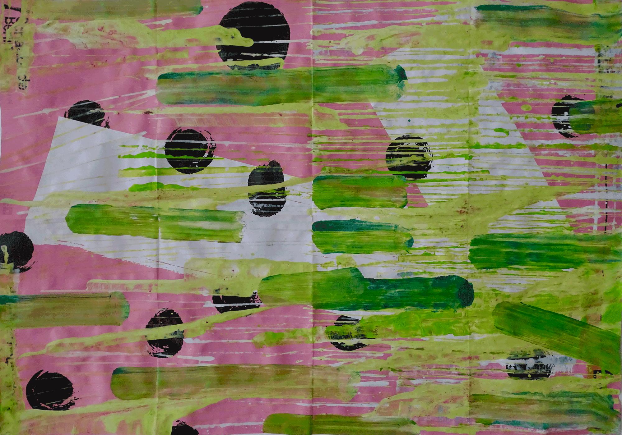 Yvonne Andreini, Springbunny, 2019, 42 x 59 cm, Tusche auf Papier
