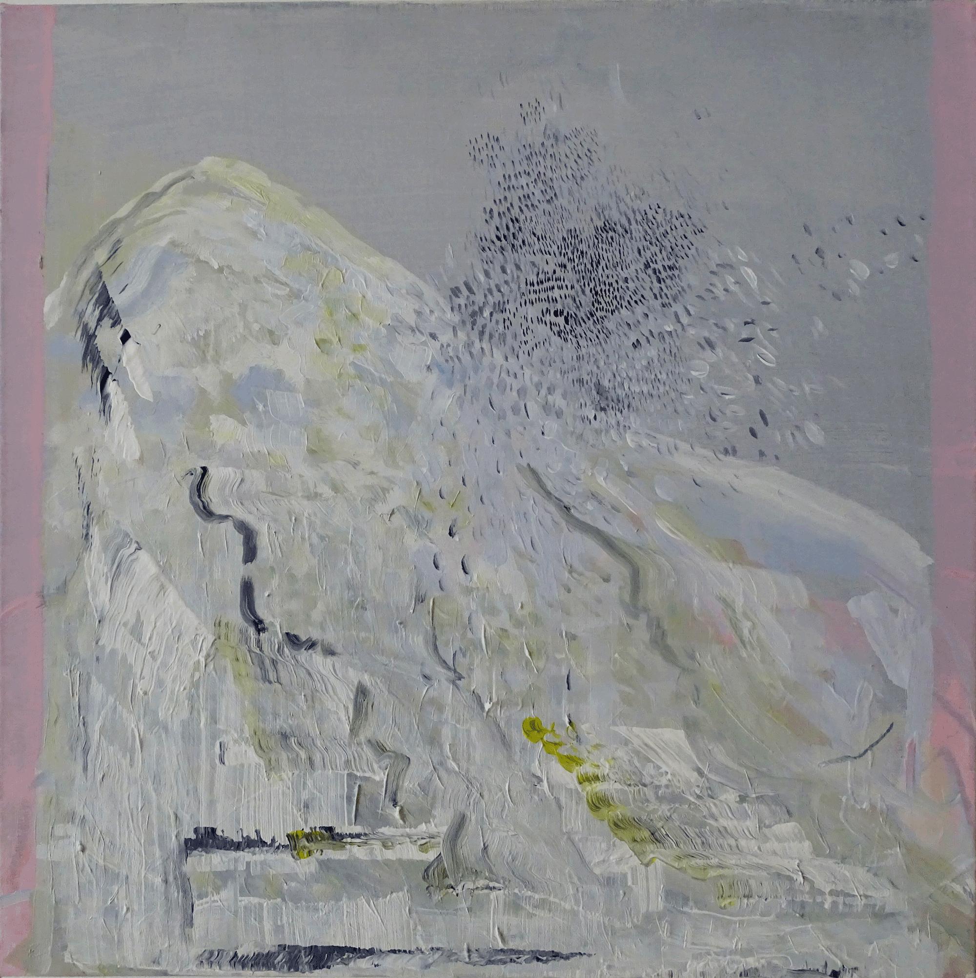 Yvonne Andreini, Up Up Up, 2019, 40 x 40 cm, Acryl auf Leinwand