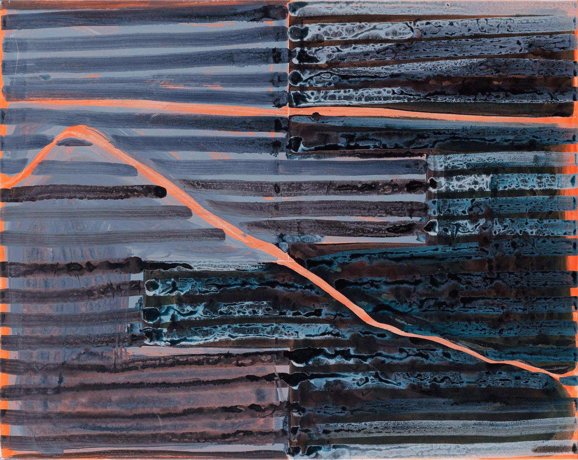 Yvonne Andreini, (Landscape) Outsight II, 2019, 80x100cm, Tusche auf Leinwand