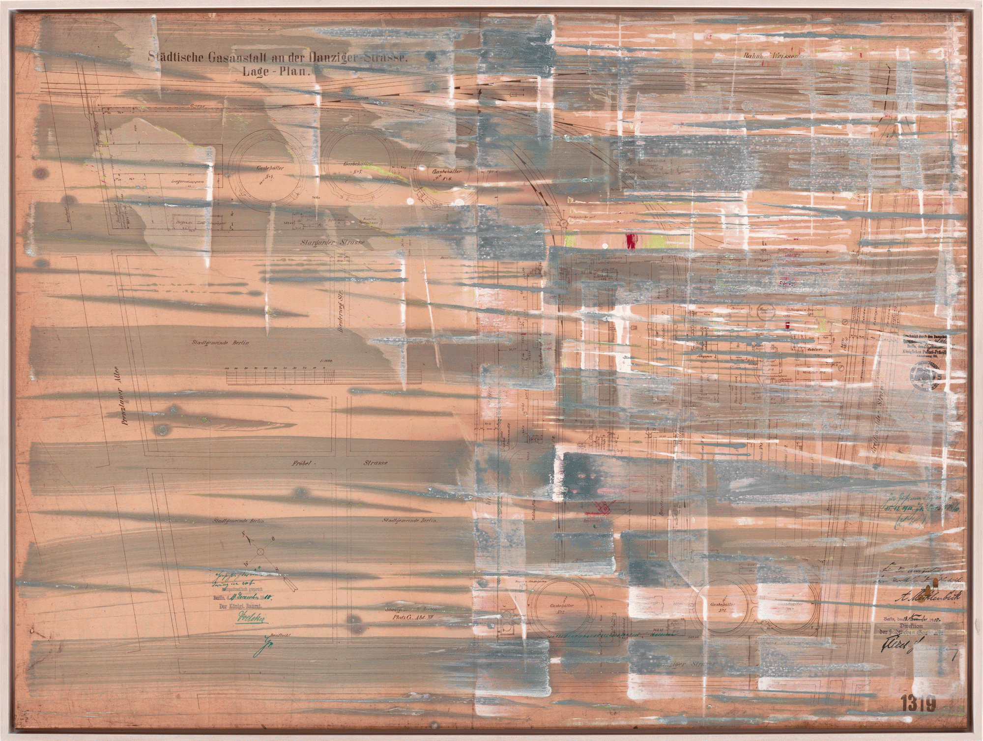 Yvonne Andreini, Time Layers, 2020, 90 x 120 cm, Tusche und Acryl auf Leinwand