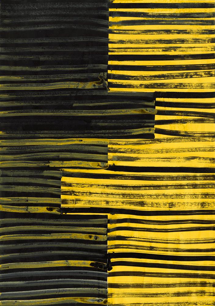 Yvonne Andreini, Moving Roots, 2019, 30x20cm, Tusche und Acryl auf Papier