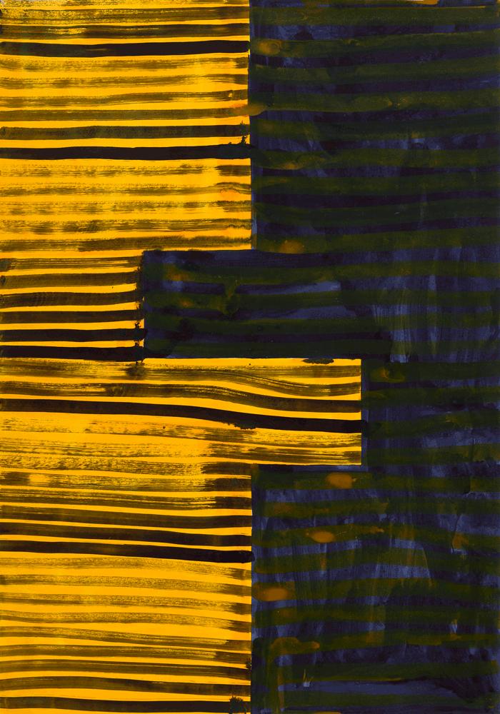 Yvonne Andreini, Moving Roots, 2019, 100 x 70 cm, Tusche auf Papier
