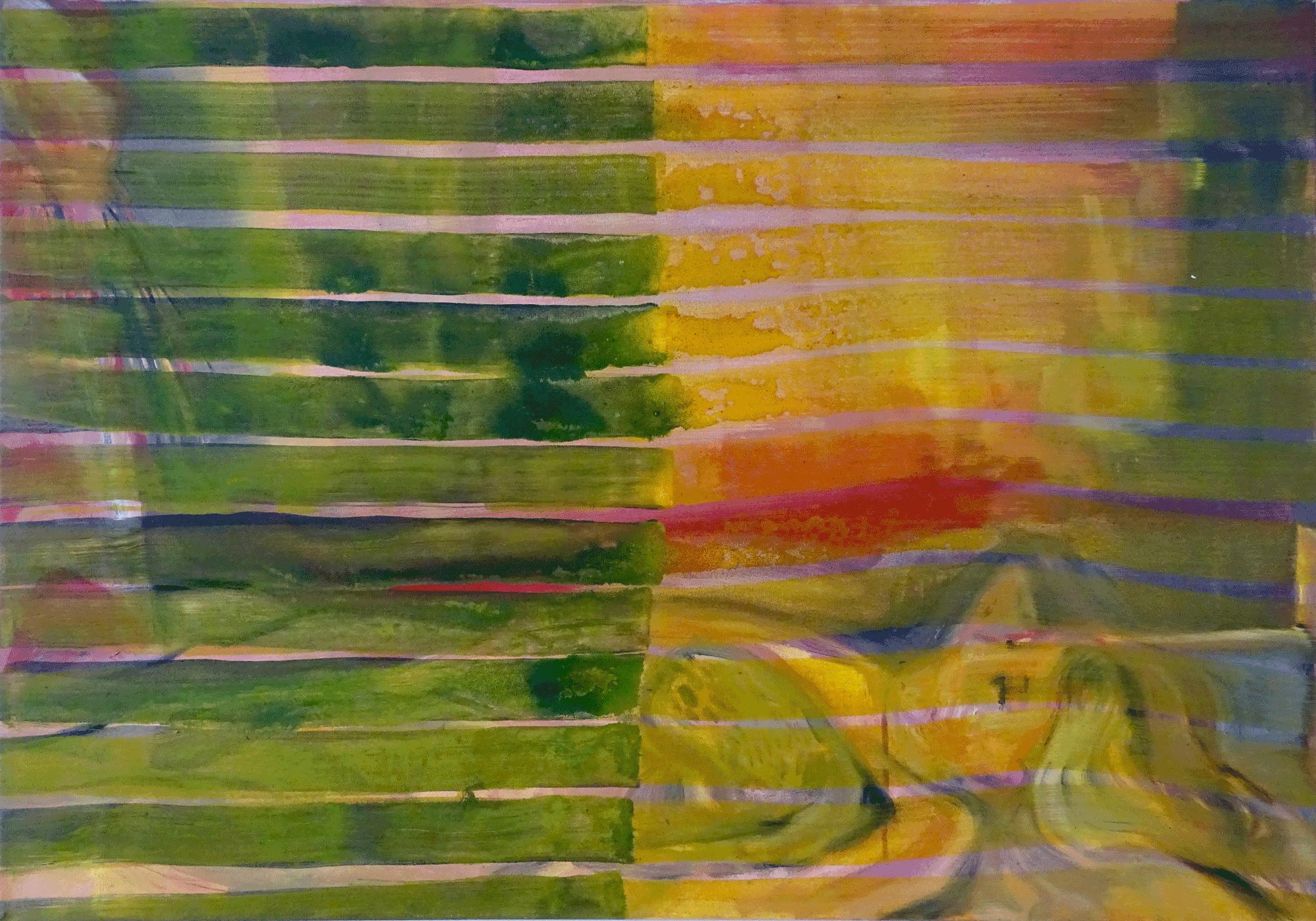 Yvonne Andreini, Yuka Mathilde, 2019, 70 x 100 cm, Tusche und Acryl auf Leinwand