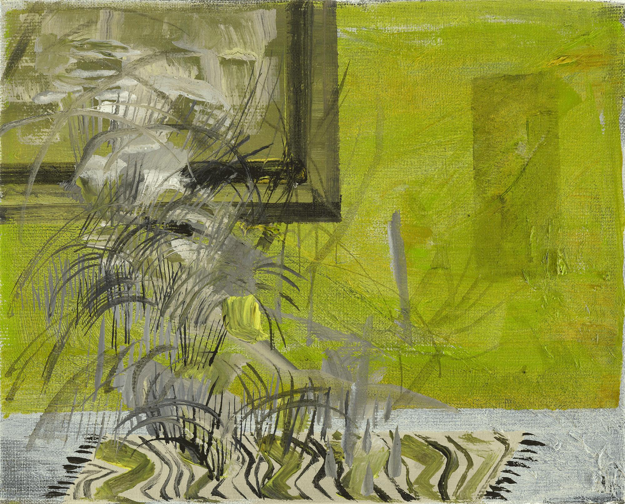 Yvonne Andreini, Insideout Teppich I, 2021, 24 x 30cm, Tusche und Acryl auf Leinwand