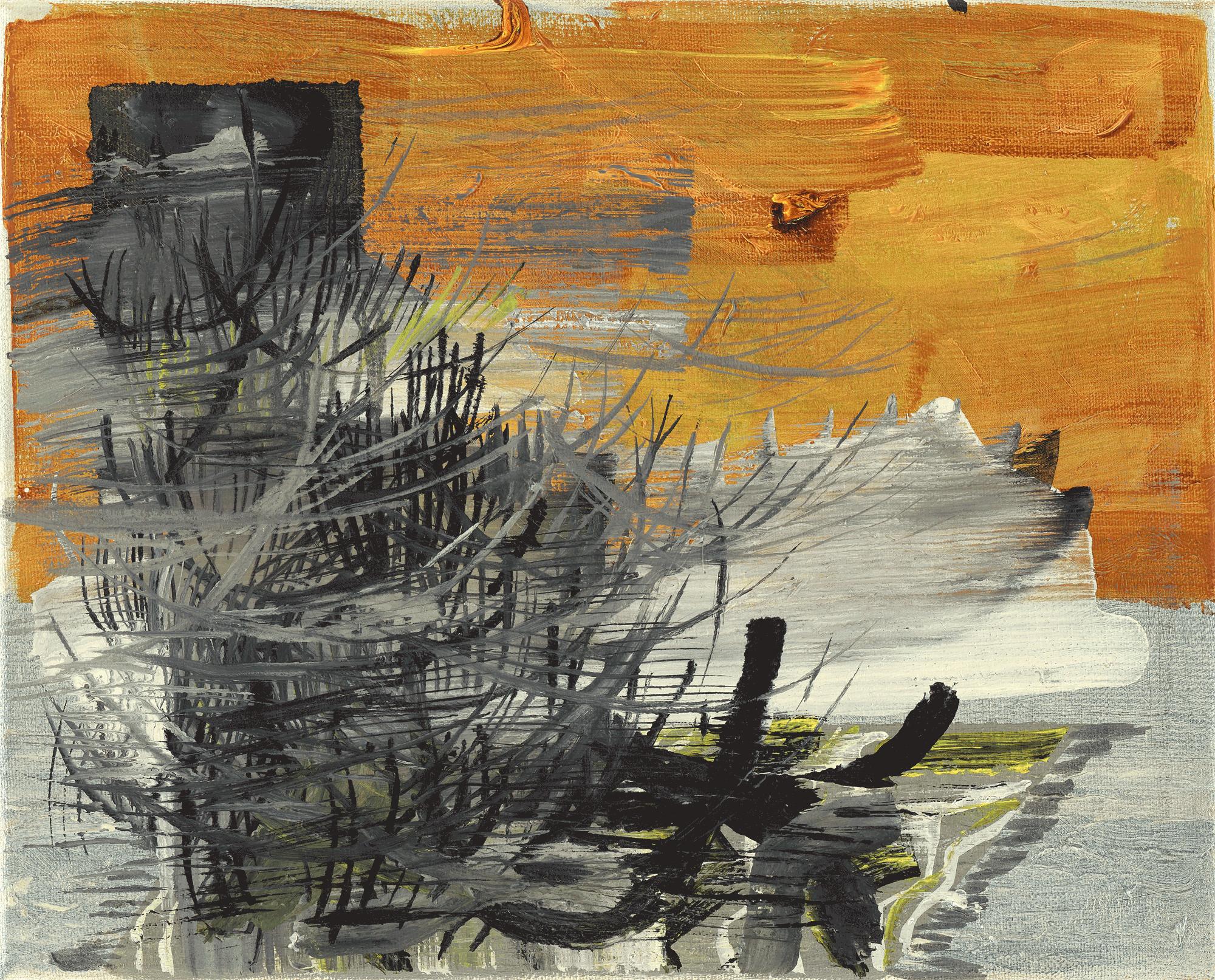 Yvonne Andreini, Insideout Teppich II, 2021, 24 x 30 cm, Tusche und Acryl auf Leinwand